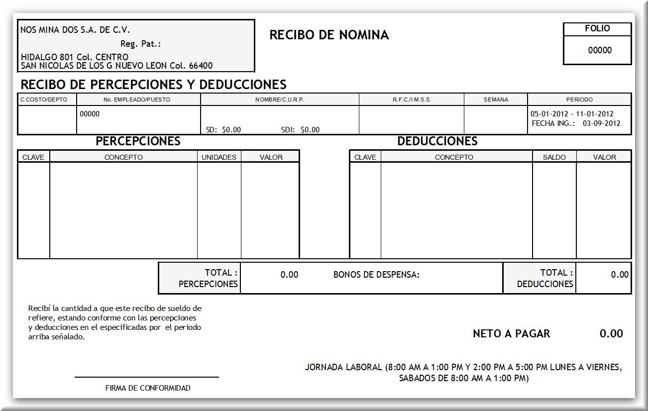 Recibo De Nomina Related Keywords Recibo De Nomina Long