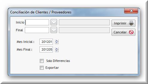 Para elaborar un reporte de clientes o proveedores ingresar la